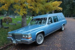 No, I'm Not Obsessed With Death, I'm Obsessed With My 1989 Baby Blue Vintage Cadillac Hearse