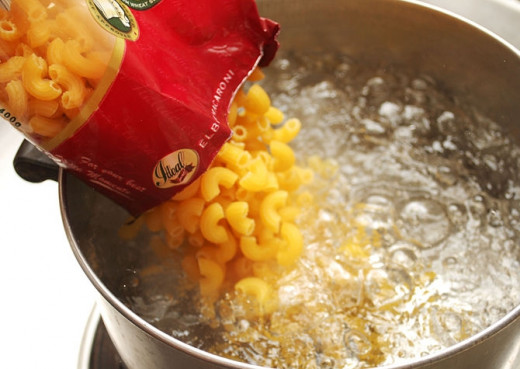 Add pasta to boiling water.