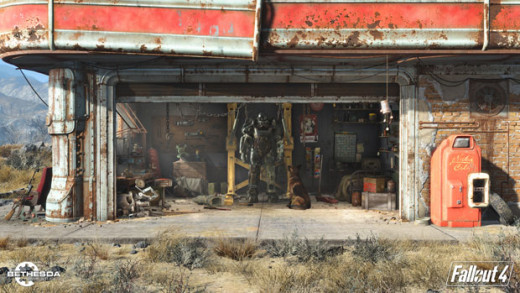 The Fallout 4 dog and workshop.