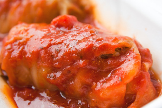 The tomato sauce is the key to a memorable stuffed cabbage leaf dish