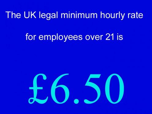 April 2016 Minimum Hourly Rate