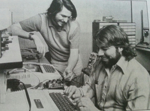 The two Steves, Jobs and Wozniak, started what became the Apple Computer Company in the garage of Jobs' house in 1976.