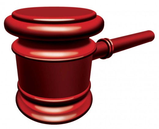 The gavel signifies the sale!