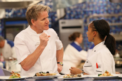 Ramsay demands perfection from his contestants.