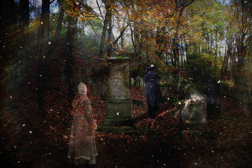 Were the household spirits actually the spirits of dead ancestors watching over their homes and families?