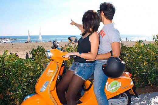 Rent a Vespa in Barcelona