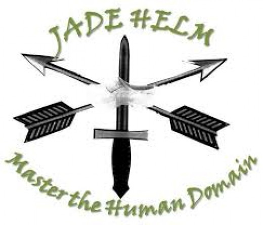 "Jade Helm agenda as stated on their official logo is to ""Master the Human Domain."" Notice the watermark of a wooden shoe, similar to the ones worn in slave-labor concentration camps in WWII."