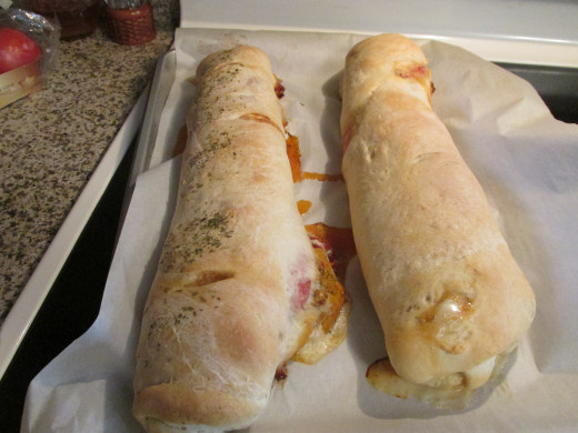 Stromboli just out of the oven