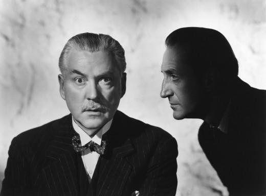 Nigel Bruce and Basil Rathbone as Watson and Holmes