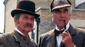 Patrick Macnee and Christopher Lee as the ill-matched Holmes and Watson