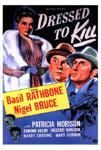 Poster for Dressed to Kill, with Basil Rathbone and Nigel Bruce
