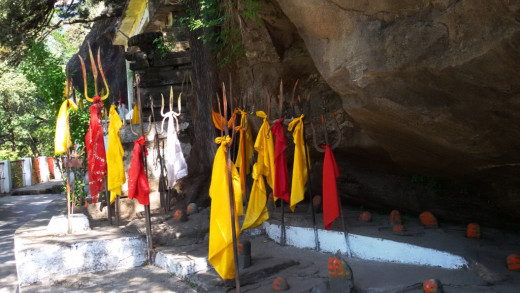 Flags in the cave