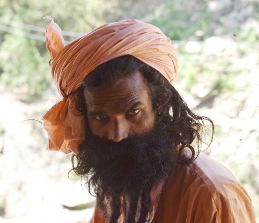 Another sadhu at Kalpeswar