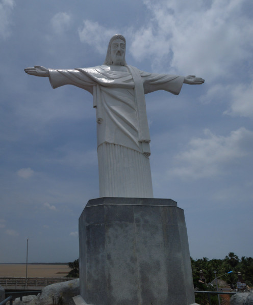 Jesus Statue, National Highway 214, Yanam, Andhra Pradesh 533464, India.