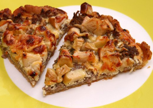 Modern quiches with a wholemeal base can be served like a pizza for lunches, picnics and as great entrees.