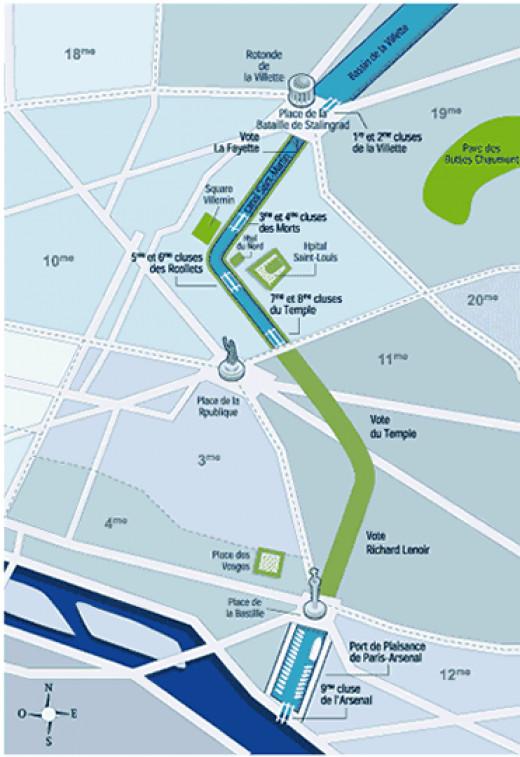 Plan canal Saint Maritn