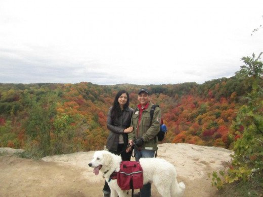 K2 and us during a fall season hike.