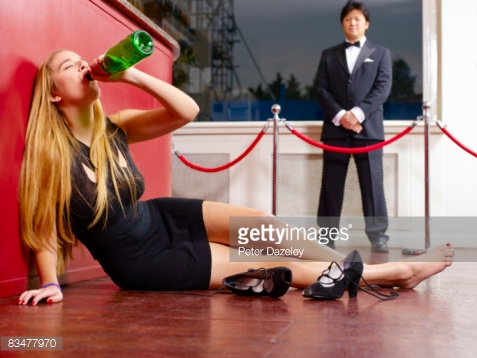 Bouncer makes sure this person does not get hurt while drinking.