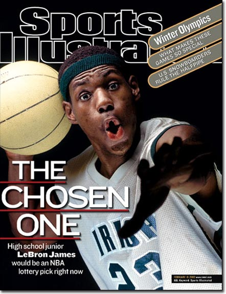 Lebron's first cover age 16 going on 17