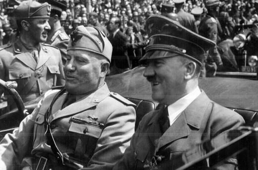 Adolf Hitler & Benito Mussolini