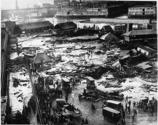 Devastation in Boston from Molasses (January, 1919)