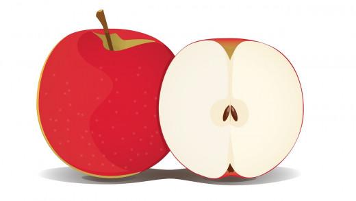 Inside the apple