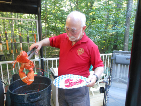 My husband takes care of steaming the lobsters when we have a lobster fest.