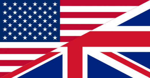 Combined flag of U.K. and U.S., the two major English speaking countries in the world.