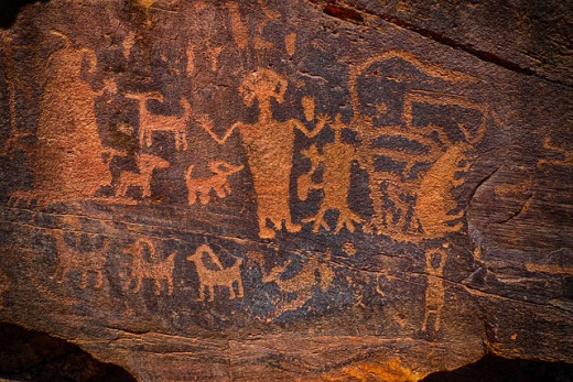 Petroglyphs of Native Americans found in Colorado.