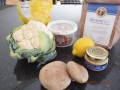 Roasted cauliflower and shitake burgers