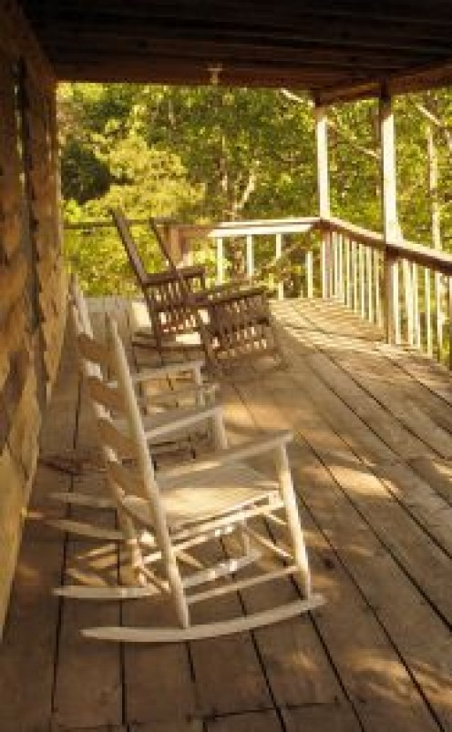 Rocking chairs on front porch