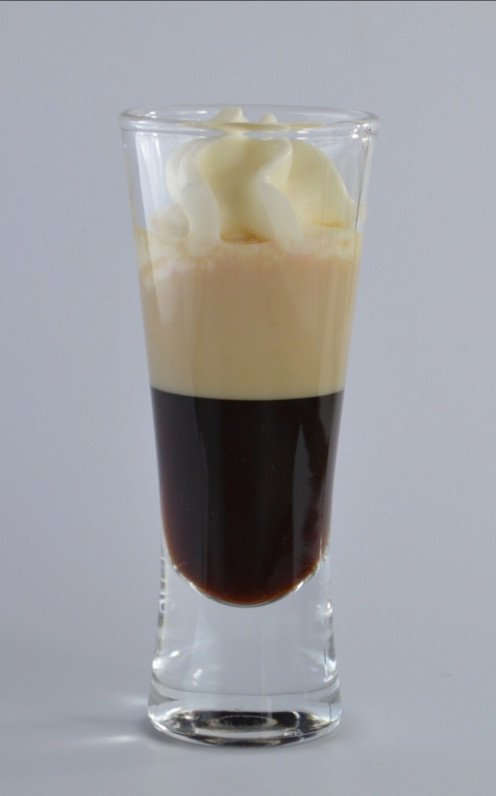 A rich, and creamy blend of Kahlua, Baily's Irish Cream, and Frangelico, finished off with Whipped Cream.
