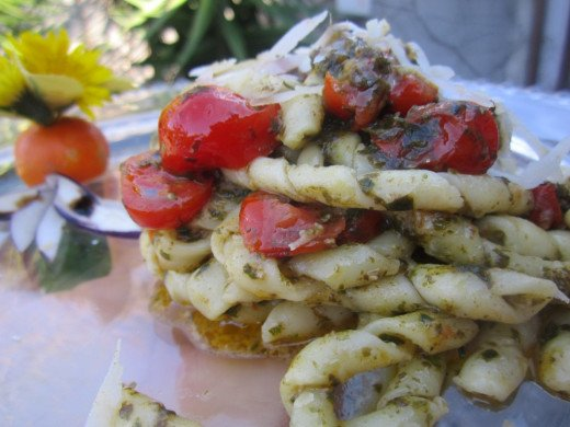 Try the mouthwatering busiate with trapanese pesto sauce