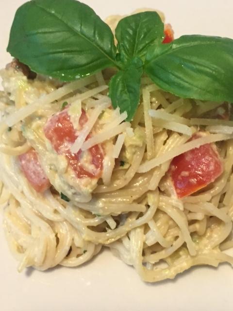 Heirloom Pasta with Green Garlic Pesto