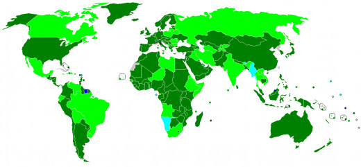 World bank's map of the world...