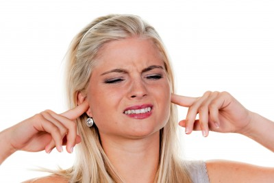 This pretty blonde has the right idea of not having to listen to the over-used phrases used by some people today.