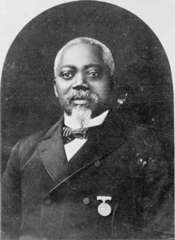 William Harvey Carney, the first African American to be awarded the Medal of Honor