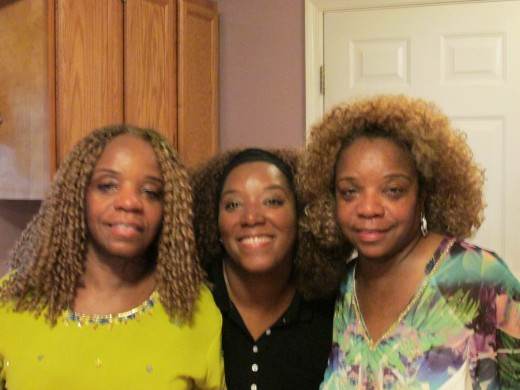 My twin sister Paulette, niece Chante and I gathered for a quick photo.