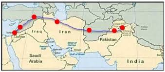 map of jesus route to Kashmir