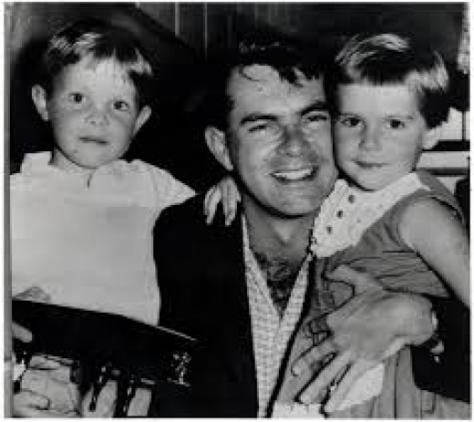 Wilbur Smith and his two Kids from his first marriage