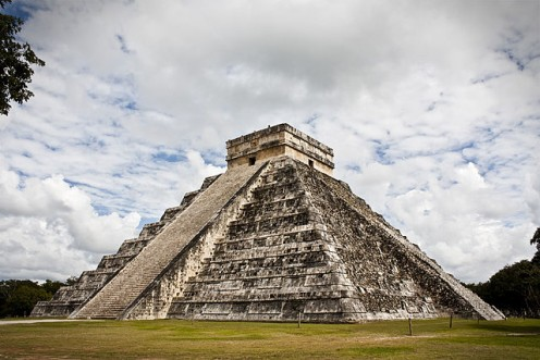 The Castle of Kukulcan in Chichen Itza, Mexico.