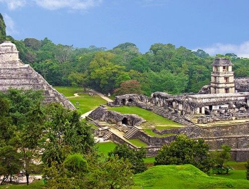 The Mayan site of Palenque