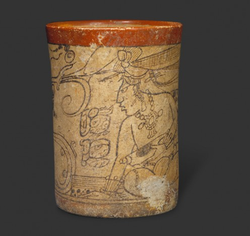 A Mayan Vessel found from Northern Guatemala