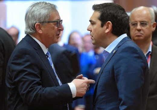 Junker and Tsipras - Junker doesn't take any more phone calls from Tsipras.