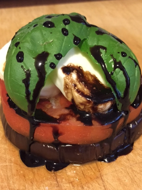 Eggplant Caprese with Balsamic Reduction Drizzle