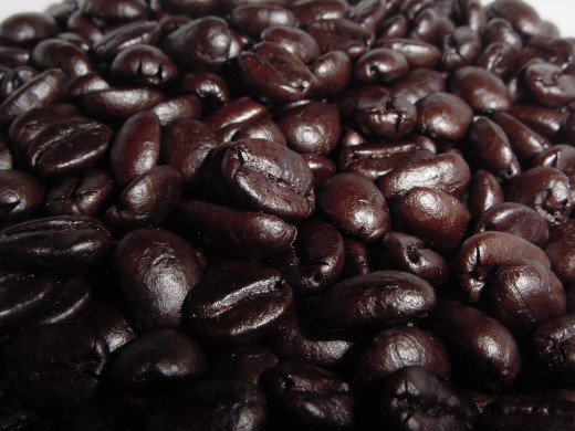Dark roasted beans.
