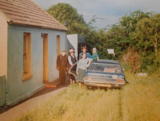 Visiting the cottage in the 1980s.