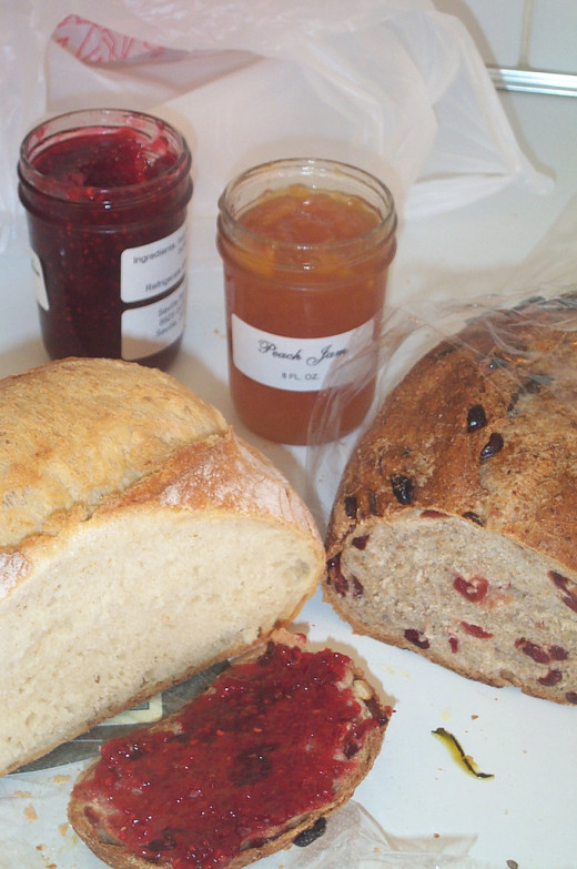 Jam with bread