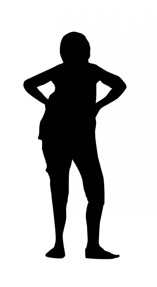 Angry woman in silhouette