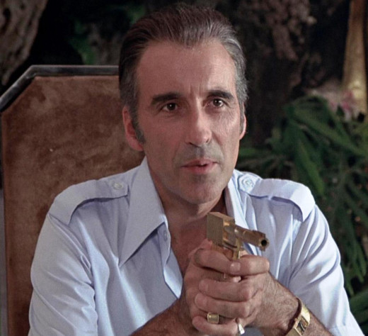 Francisco Scaramanga potrayed by Christopher Lee